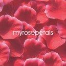Petals - 200 Silk Rose Petals Wedding Favors -  Two Tone - Red/White