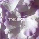 Petals - 200 Silk Rose Petals Wedding Favors -  Two Tone - White/Lavender