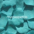 Petals - 200 Silk Rose Petals Wedding Favors - Solid Colors - Aqua