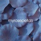 Petals - 200 Silk Rose Petals Wedding Favors - Solid Colors - Periwinkle