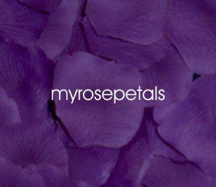 Petals - 200 Silk Rose Petals Wedding Favors - Solid Colors - Purple