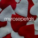Petals - 1000 Heart Wedding Silk Rose Flower Petals Wedding Favors - Ivory & Burgundy