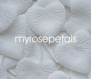 Petals - 200 Heart Wedding Silk Rose Flower Petals Wedding Favors - White