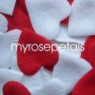 Petals - 200 Heart Wedding Silk Rose Flower Petals Wedding Favors - White & Red