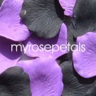 Petals - 200 Wedding Silk Rose Flower Petals Wedding Favors - Black & Purple