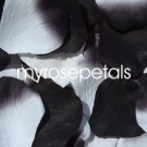 Petals - 200 Wedding Silk Rose Flower Petals Wedding Favors - Black & White/Black
