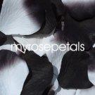 Petals - 200 Wedding Silk Rose Flower Petals Wedding Favors - Black & White/Black