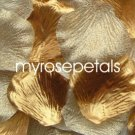 Petals - 200 Wedding Silk Rose Flower Petals Wedding Favors - Gold & Woven Gold