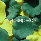 Petals - 200 Wedding Silk Rose Flower Petals Wedding Favors - Hunter Green & Lime Green