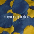 Petals - 200 Wedding Silk Rose Flower Petals Wedding Favors - Periwinkle & Yellow