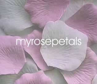 Petals - 200 Wedding Silk Rose Flower Petals Wedding Favors - Pink & White