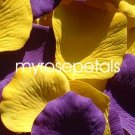 Petals - 200 Wedding Silk Rose Flower Petals Wedding Favors - Purple & Yellow