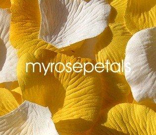 Petals - 200 Wedding Silk Rose Flower Petals Wedding Favors - White & Yellow