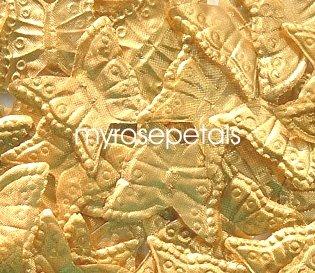 Petals - 200 Butterfly Shaped Silk Rose Petals - Wedding Favors - Gold