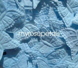 Petals - 200 Butterfly Shaped Silk Rose Petals - Wedding Favors - Powder Blue