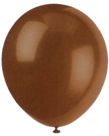 "Balloons - 12"" Latex Balloons - 144/Bag - Birthday Party/Wedding Celebration - Brown"