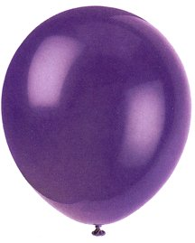 "Balloons - 12"" Latex Balloons - 144/Bag - Birthday Party/Wedding Celebration - Purple"