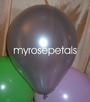 """Balloons - 12"""" Latex Pearlized Balloons - 144/Bag - Party/Wedding - Silver"""