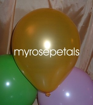 "Balloons - 12"" Latex Pearlized Balloons - 144/Bag - Party/Wedding -  Gold"