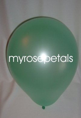 """Balloons - 12"""" Latex Pearlized Balloons - 144/Bag - Party/Wedding -  Mint Green"""