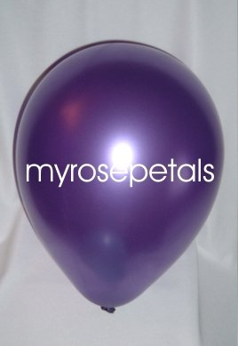 """Balloons - 12"""" Latex Pearlized Balloons - 144/Bag - Party/Wedding -  Purple"""