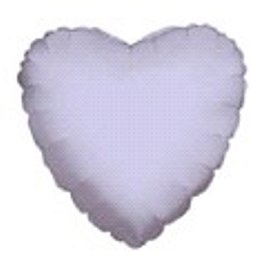 "12 Mylar/Foil Balloons Lot Wedding/Party-Heart- 18"" - Lavender"