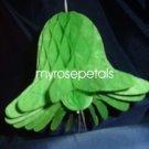 "Honeycomb Bells - Bridal/Wedding/Anniversary Decor - 7"" (3 count) - Green"