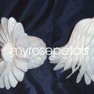 "Honeycomb Bells - Bridal/Wedding/Anniversary Decor - 11"" (1 count) - White"