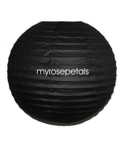 "Party Paper Lantern-Round 12""-Luau Supplies- Oriental/Chinese Lamps - Black"