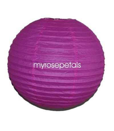 """Party Paper Lantern-Round 16""""-Luau Supplies- Oriental/Chinese Lamps - Hot Pink"""