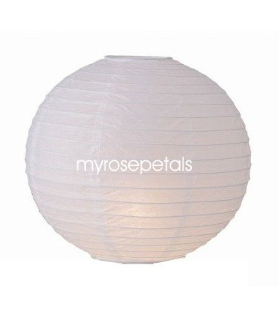 "Party Paper Lantern-Round 16""-Luau Supplies- Oriental/Chinese Lamps - White"