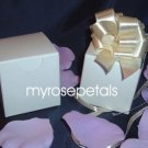 "Glossy Favor Boxes - 2""x 2"" x 2"" White - (50 pcs) Wedding/Shower/Party Favors"