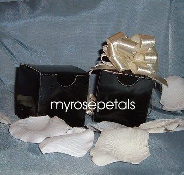 "Glossy Favor Boxes - 2""x 2"" x 2"" Black - (10 pcs) Wedding/Shower/Party Favors"