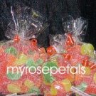 "Clear Cello/Cellophane Bags - Flat - 100 Bags - 8"" x 10""  - Party/Wedding Favors"