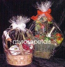 "Clear Cello/Cellophane Bags - Basket Bags - 50 Bags FLAT - 14"" x 18"" Gift Basket Supplies"