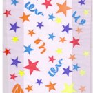Cello Cellophane Favor Treat Party Bags w/Twist-Ties-Stars