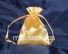 "Satin Wedding Favor Bags/Pouches - 3""x4"" - Gold (10 Bags)"