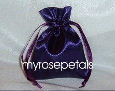 "Satin Wedding Favor Bags/Pouches - 3""x4"" - Purple (10 Bags)"