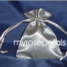 "Satin Wedding Favor Bags/Pouches - 3""x4"" - Silver (10 Bags)"