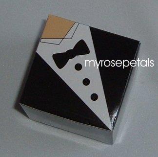 """Favor Boxes - Tuxedo - 2"""" x 2"""" x 2"""" - (100 pcs) Wedding/Shower/Party Favors"""