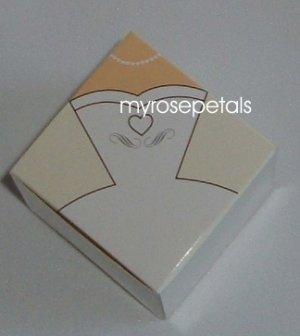"""Favor Boxes - Bridal White Gown/Dress - 2"""" x 2"""" x 2"""" - (50 pcs) Wedding/Shower/Party Favors"""