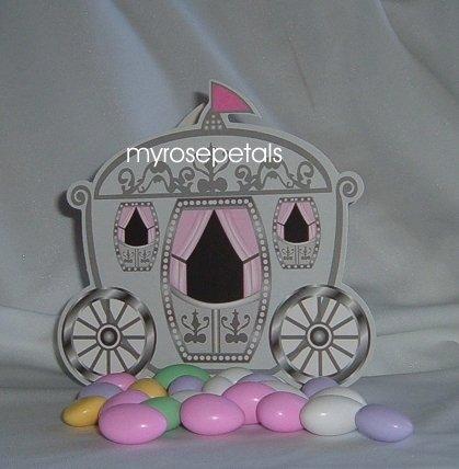 Favor Boxes - Princess Carriage Design - (10 pcs) Wedding/Shower/Party Favors