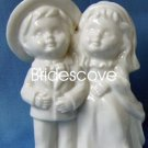 Porcelain Wedding Bride and Groom Cake Topper - Wedding Decoration / Gift - (HS90315)