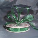 "Sheer Organza Ribbon Mono Edge - 3/8"" - 25 Yards (75 FT) - Green"