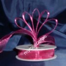 "Sheer Organza Ribbon Mono Edge - 5/8"" - 25 Yards (75 FT) - Burgundy"