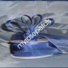 """Sheer Organza Ribbon Mono Edge - 5/8"""" - 25 Yards (75 FT) - Smoked Blue"""