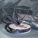 "Sheer Organza Ribbon Mono Edge - 7/8"" - 25 Yards (75 FT) - Navy Blue"