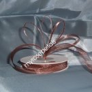 "Sheer Organza Ribbon Mono Edge - 7/8"" - 25 Yards (75 FT) - Brown"