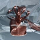 "Sheer Organza Ribbon Mono Edge - 1.5"" - 25 Yards (75 FT) - Brown"