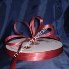 "Ribbon - Satin Ribbon- 3/8"" Single Face 100 Yards (300 FT) - Burgundy-Sewing- Craft - Wedding Favors"
